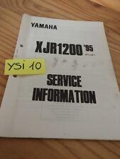 Yamaha XJR1200 1995 XJR 1200 service information technique technical data FR