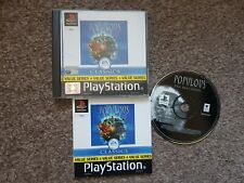 Populous The Beginning PS1 game Sony Playstation COMPLETE WITH MANUAL - rare
