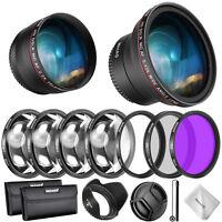Neewer 58mm Lens & Filter Accessory Kit for Canon Rebel EF-S 18-55mm Lens