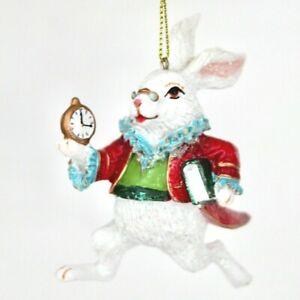 White Rabbit from Alice in Wonderland Christmas Tree Decoration Gisela Graham