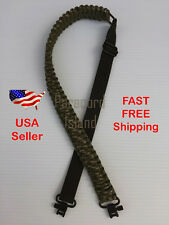 NEW Army Camo & OD Green Adjustable 550LB Paracord Rifle Gun Sling Strap Swivels