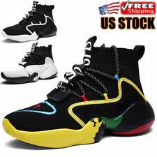 Men's Athletic Running Shoes Lightweight Sports Tennis High Gang Sneakers Walk