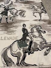 Vintage Lippizan horse dressage fabric 7 Yards Black White Gray