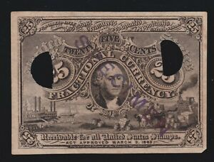 US 25c Fractional Currency Note Experimental Milton M2E25F3c V Ch CU