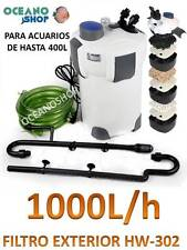 FILTRO EXTERIOR COMPLETO 1000L/H HW-302 ACUARIO BAJO CONSUMO 18W CON FILTRACION