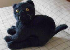 VINTAGE LOOKING BLACK STUFFED CAT MADE BY RUSS BERRIE & CO.