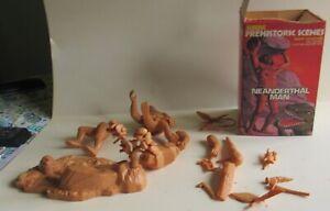 Aurora Prehistoric Scenes Neanderthal Man Model Kit w/Box