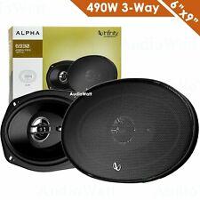 "2x Infinity Alpha 6930 6"" x 9"" 490W 3-Way Car Audio Tweeter Coaxial Speaker NEW"