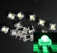 50Pcs 5mm F5 Piranha LED Green Round Head Super Bright Light Emitting Diode