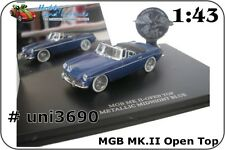 Die-Cast MGB MkII Open top Metallic Midnight Blue in Presentation Box. 1:43 3690