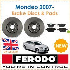 For Ford Mondeo 1.6 1.8 2.0 2.2 2007- FERODO Front Brake Discs & Brake Pads New