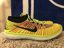 Nike Free RN Motion Flyknit OC, 843433-999, Yellow, Men's Running Shoes Size 13