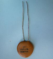 100pf 3000v Hi Voltage vintage ceramic capacitor NOS