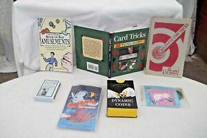 MAGIC TRICK LOT of 7 Empire Trick, Galdini Cards, Magic Coins, Books  Free S/H
