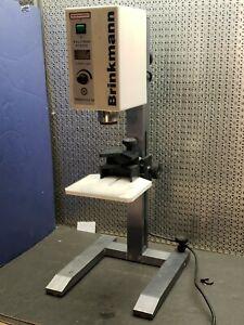 BRINKMANN POLYTRON PT3000 HOMOGENIZER w/  Adjustable, Stable H-Foot Work Stand