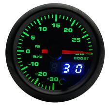 """2"""" 52mm 7 Colors LED Car Turbo Boost Gauge PSI Meter Analog/Digital Dual Display"""