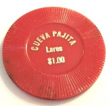 $1 CUEVA PAJITA Salon de Baile LARES PUERTO RICO 1970 Dance Hall Drink Token