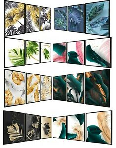 Set of 3 Abstract Wall Art Prints Living Room Bedroom Decor Posters A4 A3 Gift