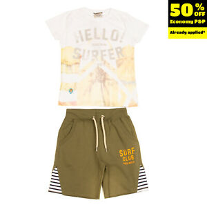 FRED MELLO T-Shirt Top & Shorts Set Size 10Y Printed Front