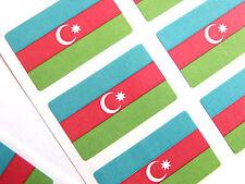Mini Aufkleber-Pack, Selbstklebende Aserbaidschan Flagge Etiketten, FR68
