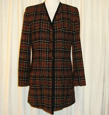 BEAUTIFUL SONIA RYKIEL PARIS TWEED JACKET/COAT 42 (AUS 12-14) MADE IN FRANCE