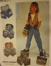 Sin Cortar Vintage Simplicity Patrón de Costura 7147 Craft Niña Chaleco Bag 3-6