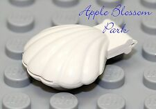 NEW Lego WHITE CLAM SHELL -Belville Friends Minifig/Minifigure Ocean Fish Animal