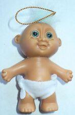 "RUSS 3"" BLUE EYED BABY TROLL #18055 W/DIAPER & STICKERS"