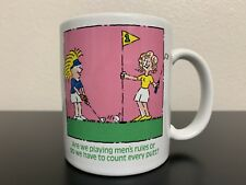 Golf Mug/Coffee Cup With Comic Female Golfers Made By Golf Gifts & Gallery 10oz