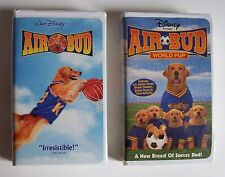 2 VHS Disney AIR BUD World Pup SOCCER ~ AIR BUD BASKETBALL  Live-Action Family