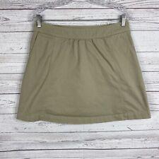 Ibex Womens Above Knee A-line Skirt Size 8 Beige Organic Cotton Hemp
