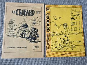Rarissimes fanzines LE CROBARD 1 et 2, inédits MOEBIUS, BILAL, TARDI...