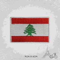 Lebanon National Country Flag Patch Iron On Patch Sew On Embroidered Patch