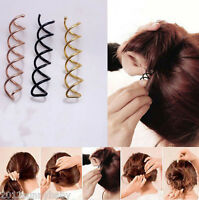 1/10pcs Women Hair Styling Spiral Spin Screw Bobby Pin Hair Clip Twist Barrette