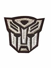 Sliver transformer AUTOBOT Embroidered Iron On / Sew On Patch