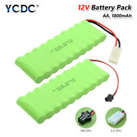 Rechargeable Ni-MH AA 12V Battery Pack Group 1800mAh For LED Light RC Models B7