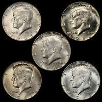 1965 1966 1967 1968 1969 Kennedy Half Dollar (5 Coin Set) 40% SILVER Circulated
