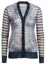 Jean Paul Gaultier for Lindex nude tattoo pattern cardigan size S