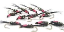 Trout Diawl Bachs 4 Black Red Cheek,Trout Nymphs Trout Flies For Fly Fishing,