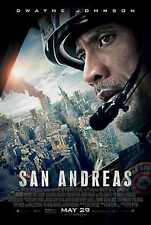 San Andreas doble cara ORIGINAL película PÓSTER Final Estilo Dwayne Johnson