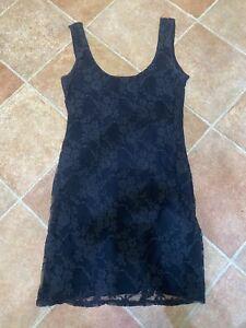 New Look Ladies Womens Black Lace Longline Vest Top Size 12