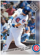 2017 Topps Now #497 18TH CAREER HR IN 80TH GAME MARKS RARE CUBS FEAT - IAN HAPP