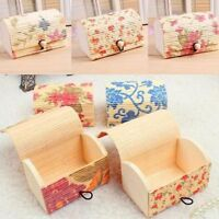 Wooden Jewelry Display Case Ring Necklace Earring or Storage Box Jewelry Boxes