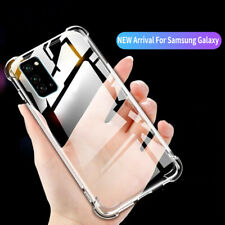 For Samsung Galaxy M31 Shockproof Rubber Case Clear Back Silicone TPU Soft Cover