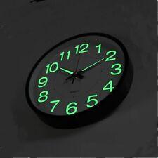 Luminous Wall Clock Glow In The Dark Quartz Watch Indoor Outdoor Home Decoration