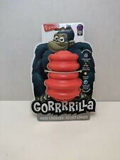 """Gorrrrilla Tough Rubber Dog Toy Large 4"""" Red Chew Toy Brand New"""