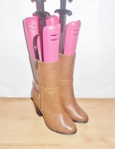 NEW ladies NEW LOOK BENSON 2 brown faux leather mid calf heeled boots