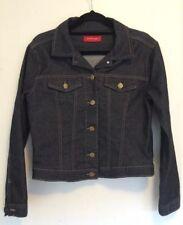 PORTMANS Women's Size 8 Denim Jacket Lightweight Stretch Dark Wash