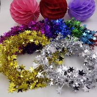 5M Christmas Star Tinsel Garland Wire Home Decor Garland Xmas Tree Decorations
