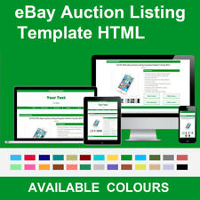 Green eBay Auction Listing Template Responsive Image Gallery 2018 HTML HTTPS